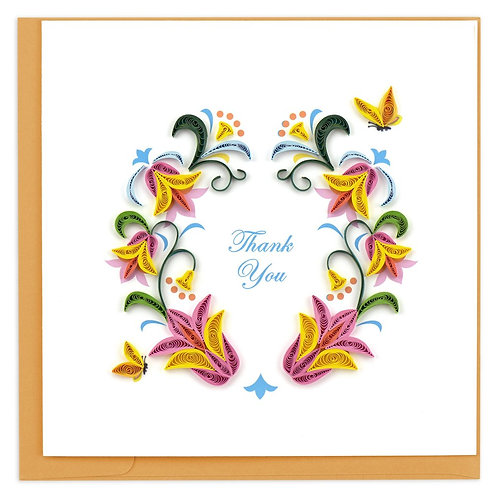 Flourish Thank You Quilling Card