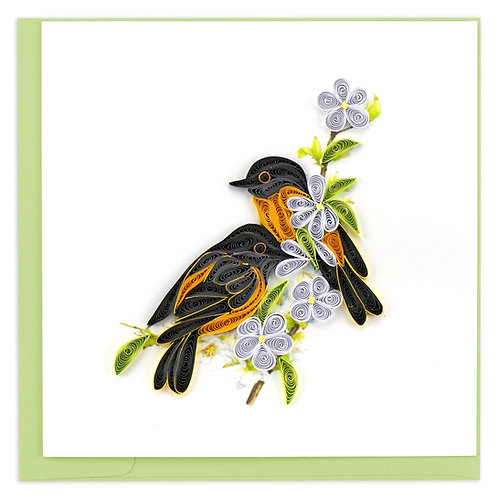 Baltimore Oriole Quilling Card