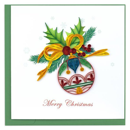 Merry Christmas Ornament Quilling Card