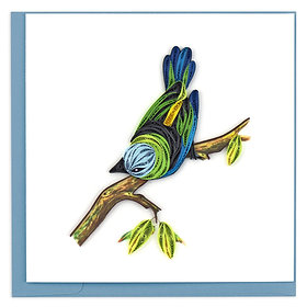 Green Headed Tanager Quilling Card