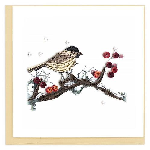 Bird & Berries Quilling Card