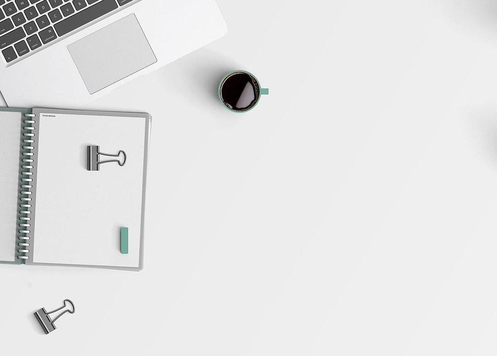 desk, organisation, coffee, laptop, evelynandford