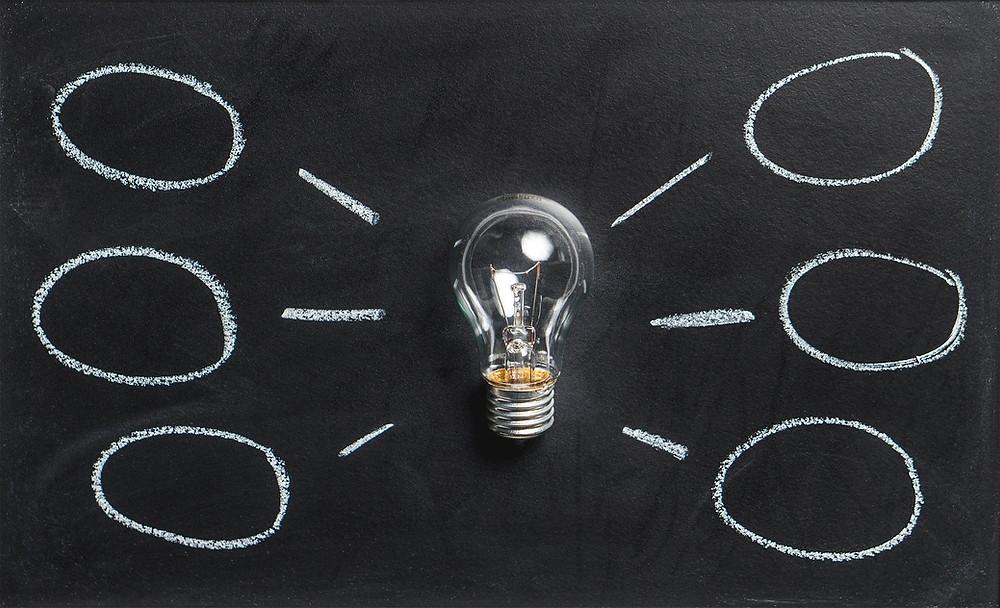 Lightbulb, lightbulb moment, outsourcing, virtual assistant