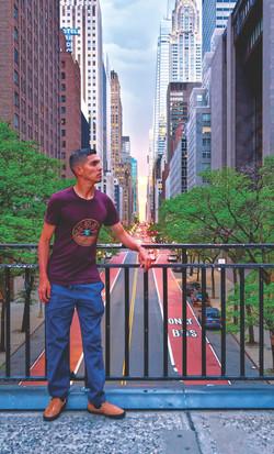 Manhattan Edge Sunset- PTR top and soler