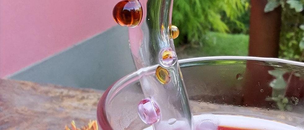 Canudo Blend da Bela Aiache, peça única e especial criada a mão no maçarico, em borossilicato - vidro termoresistente.