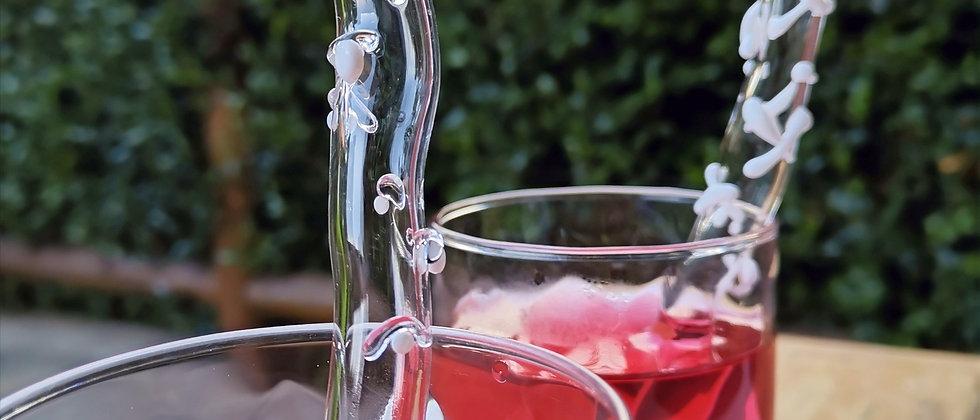 Canudo Mira da Bela Aiache, peça única e especial criada a mão no maçarico, em borossilicato - vidro termoresistente.