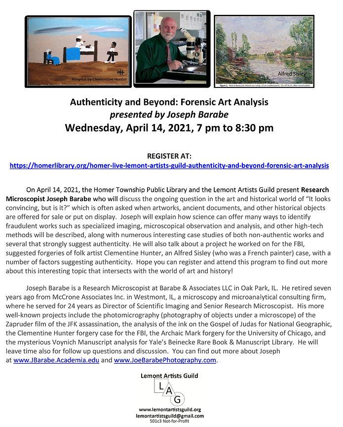 04-14-21 Joseph Barabe-Authenticity and