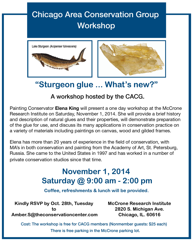Nov. 1,2014 Sturgeon glue workshop