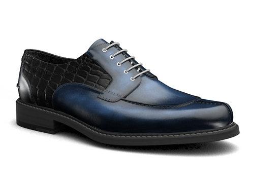 INSTINCT-V BLUE CROC MENS DERBY SHOES