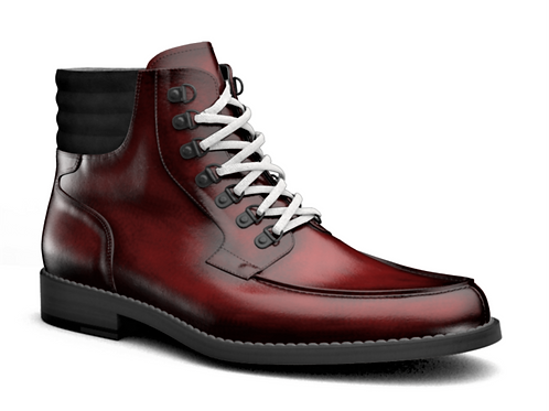 H&R REINHOLD LEATHER CHUKKA BOOTS - RED