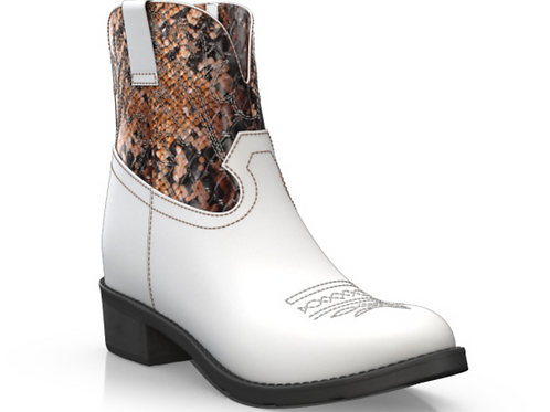 WOMENS WESTERN STYLE  ANKLE BOOTS