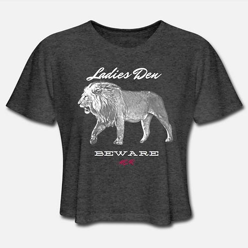 Ladies Den Lion Cropped T-shirt