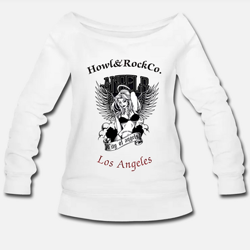 CITY OF ANGELS WOMENS WIDENECK SWEATER
