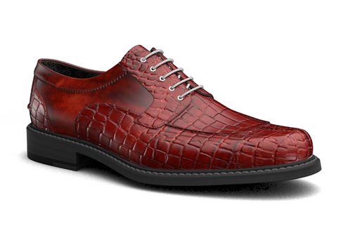 RED CROC CASUAL MENS DERBY SHOES