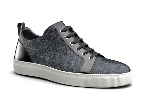 H&R PIETRO LEATHER LOW TOP SNEAKERS - PATTERN
