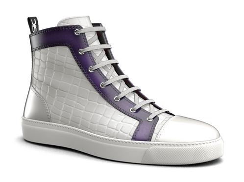 DIS Croc Pattern Womens High Top Sneakers