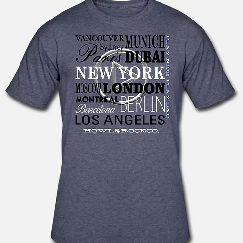Luxury World Cities Mens Graphic Tee