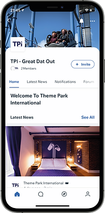 Theme Park International Mobile App iPho