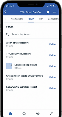 Theme Park International Mobile App Mock