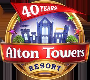 Alton Towers Resort - 40th Anniversary Logo Released