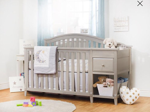 Brittany Crib and Changer Heritage Fog