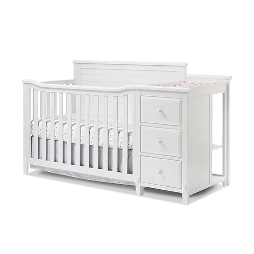 Berkley Panel Crib And Changer White