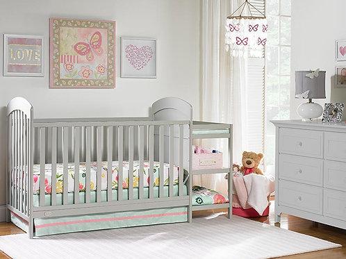 Modesto Crib and Changer grey