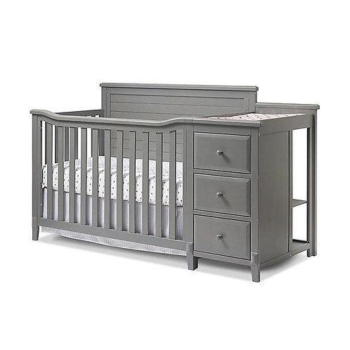 Berkley Panel Crib And Changer Grey