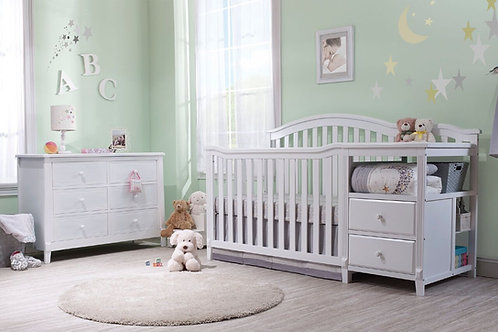 Berkley crib and changer White