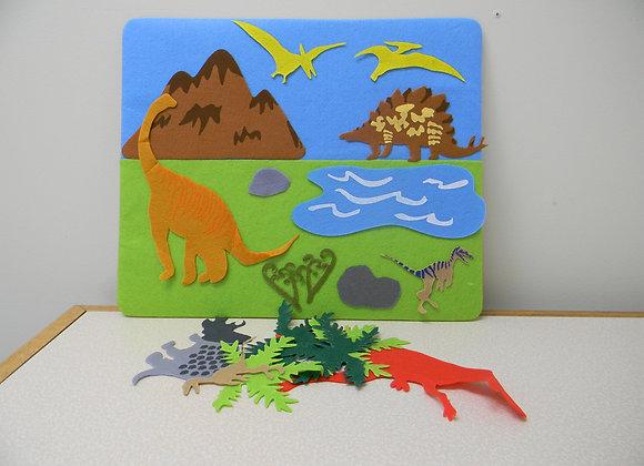 Felt creation Puzzle: Dinosaur