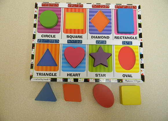 Chunky Puzzle/Shapes with Braille