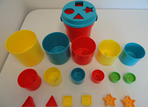 Bucket with Shapes