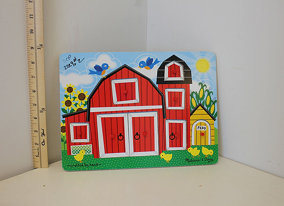 Wooden Barn & Dog House Puzzle