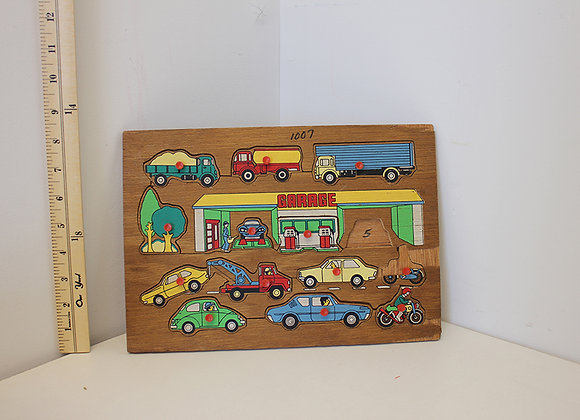 Garage, Cars and Trucks Puzzle
