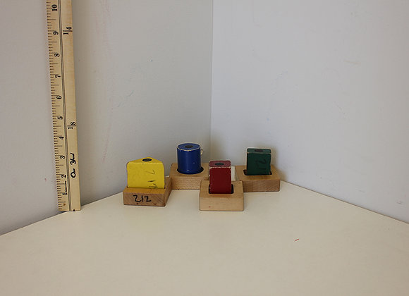 Wooden Magnetized Shaped Blocks and Bases