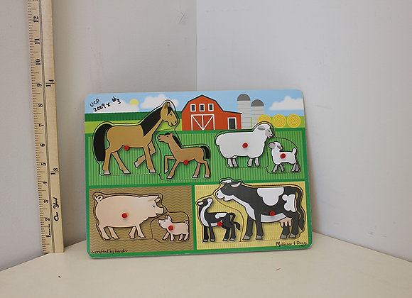 Farm Animals Puzzle: Mama & baby