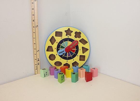 Shape-Sorting Clock