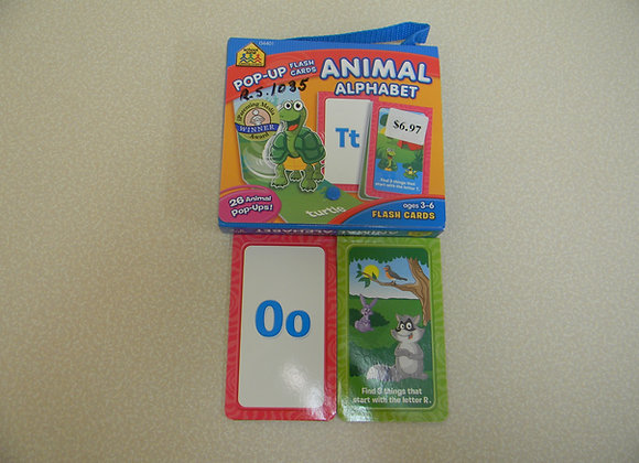 Pop-Up Animal & Alphabet Flash Cards