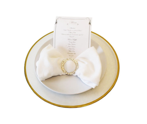 Gold Rimmed Charger Plate Hire