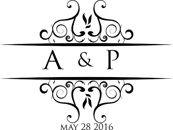 Personalised Initial Monogram Stickers
