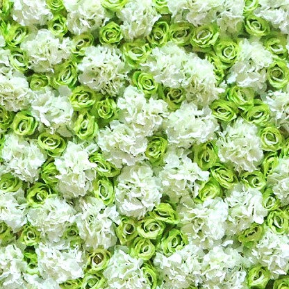 Green & White Flower Wall