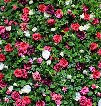 Rosie's Pink Garden Flower Wall Backdrop