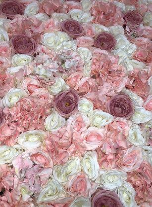 Ballerina Pink Flower Wall Backdrop