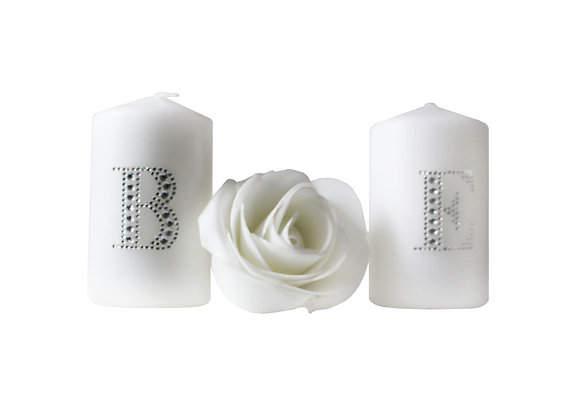Diamante Initial Candles