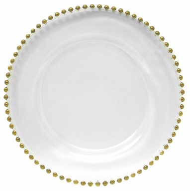 4 x Gold Beaded Charger Plate
