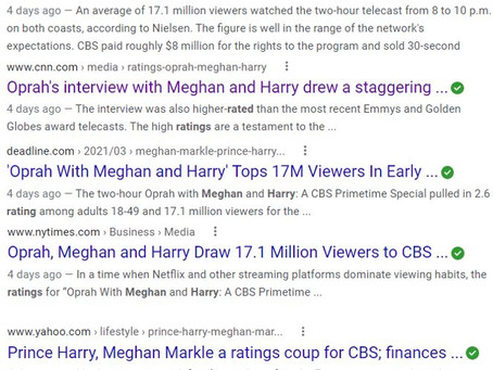 While everyone is gushing over the Oprah, Harry & Meghan interview, look a little Closer.