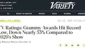 2021 Grammy Ratings plunge 53%. CTV enables marketers to buy audiences rather than programs.