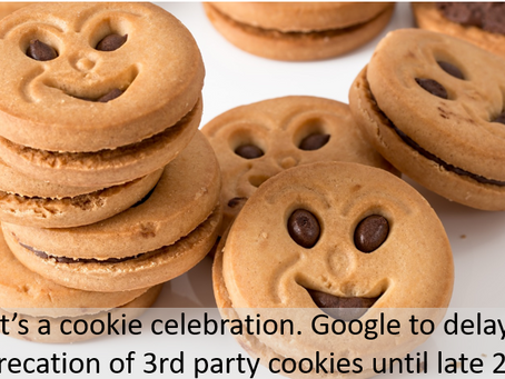 The third-party cookie, received a stay of execution. Google to support 3rd party cookies thru 2023