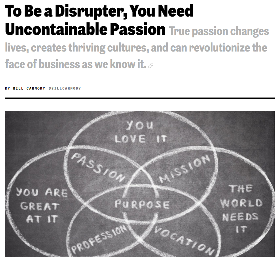 Make waves, challenge the traditional, change beliefs, shatter boundaries...I want to be a disrupter