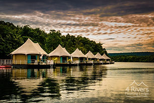 4 Rivers Floating Lodge is a unique luxury eco-lodge located in Cambodia. They offer 18 tents and the highest standard of service, care and accommodation on the bank of the Tatai River, surrounded by the magnificent Cardamom Mountains. Guests can spend their days relaxing on their private sundeck, jumping into the refreshing water, kayaking, venturing into the rainforest for tours and activities, and enjoying local and Western-style cuisine.